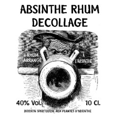 苏醒苦艾朗姆酒 40% Absinthe Rhum Decollage